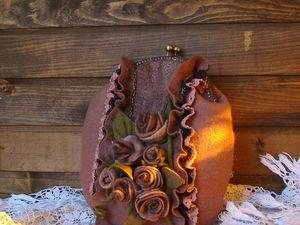 МК Войлочная сумка | Ярмарка Мастеров - ручная работа, handmade