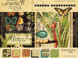 Набор бумаги Graphic 45 Nature Sketchbook 30х30см. Ярмарка Мастеров - ручная работа, handmade.
