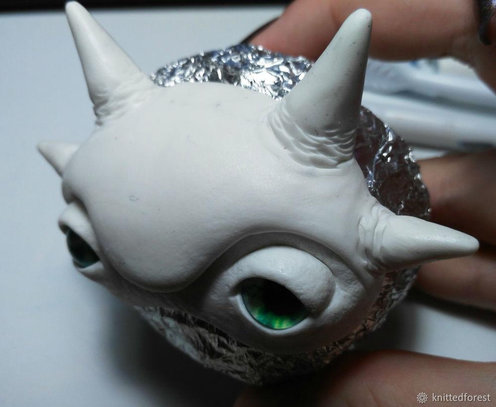 Процесс создания авторской игрушки из полимерной глины. Часть 1. Лепка мордочки, фото № 28