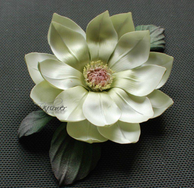 цветок-брошь, живой мастер-класс