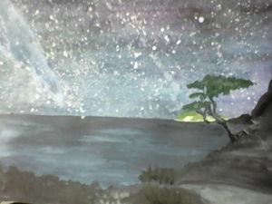Аукцион на очень красивую акварель Крым. Ярмарка Мастеров - ручная работа, handmade.
