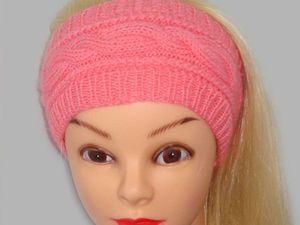 Видео мастер-класс: повязка на голову спицами. Ярмарка Мастеров - ручная работа, handmade.
