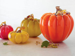 Magical Glass Pumpkins. Livemaster - handmade