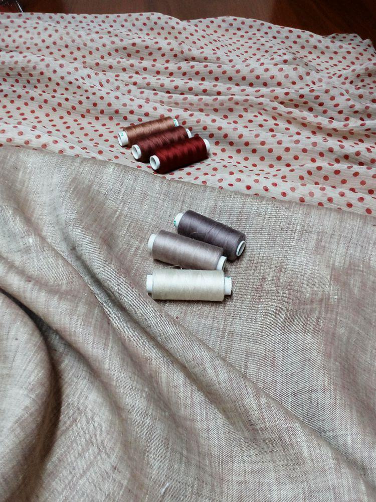 пошив, брюки из льна