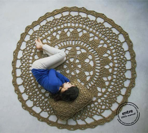 BIG scale handmade crochet rug ENTRE collection  by ENTREDESIGN