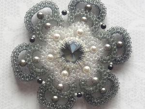 Создаем элемент «Сумеречный цветок» в оттенках серого. Ярмарка Мастеров - ручная работа, handmade.