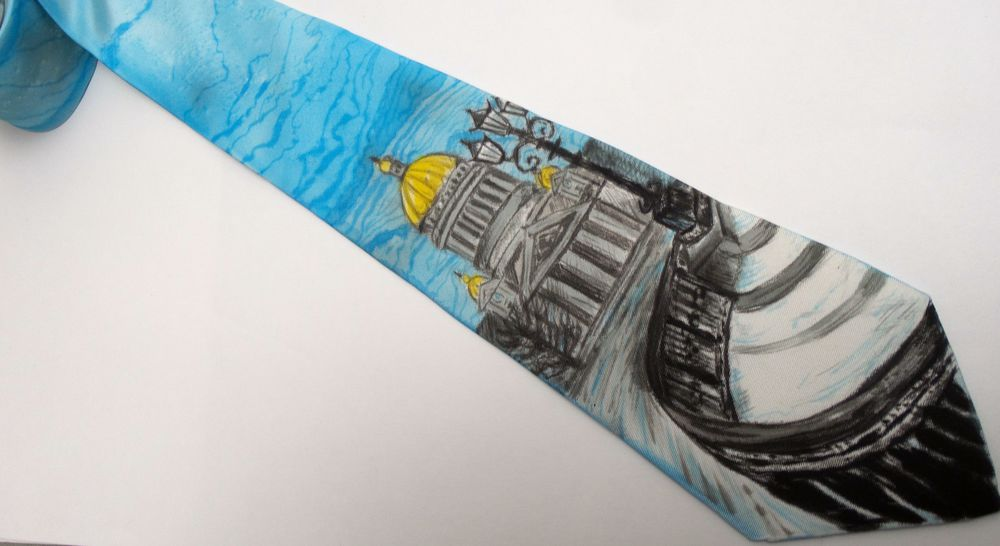 мастер-класс, роспись шелка, галстук, батик своими руками