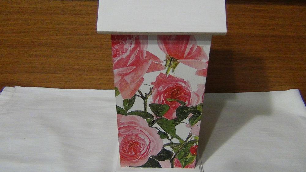 декупаж, чайный домик, розы