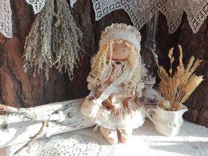 Лиза - нежная, добрая  девочка. Интерьерная куколка ручной работы.. Ярмарка Мастеров - ручная работа, handmade.