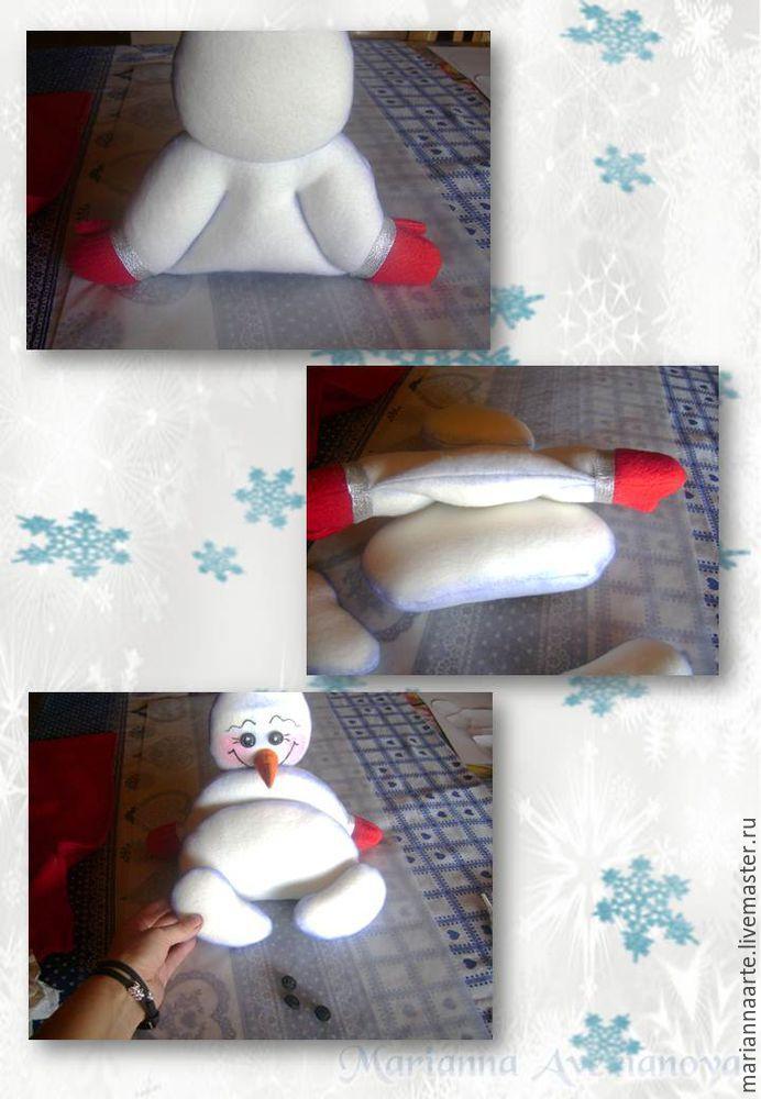 Мастер-класс по созданию забавной новогодней игрушки «Снеговичок-тюфячок», фото № 26