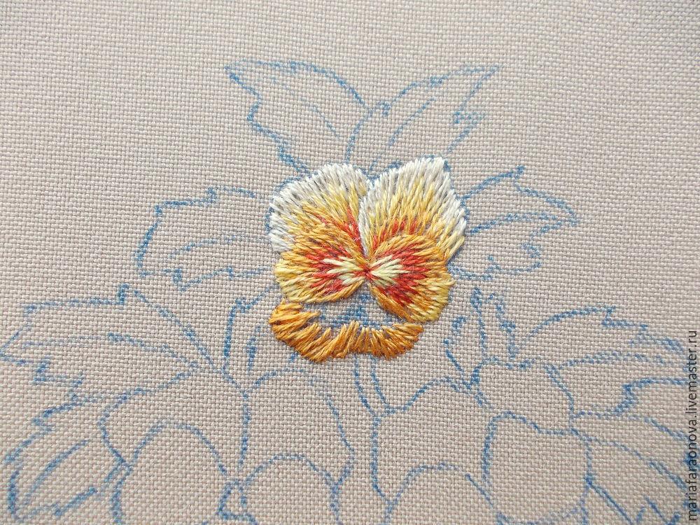刺绣教程:玻璃三色堇(大师班) - maomao - 我随心动