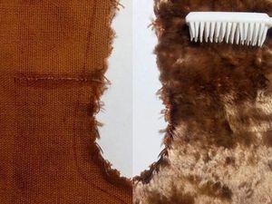 Как предотвратить неприятности в работе с винтажным плюшем. Ярмарка Мастеров - ручная работа, handmade.