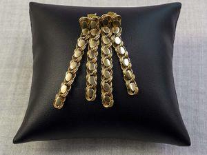 Снижение цен на золотые серьги — акция октября!. Ярмарка Мастеров - ручная работа, handmade.