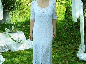 Белое платье из шёлка. Ярмарка Мастеров - ручная работа, handmade.