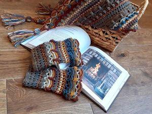 Шаль и митенки-манжеты: вот такой он, перуанский «Шотландский твид». Ярмарка Мастеров - ручная работа, handmade.