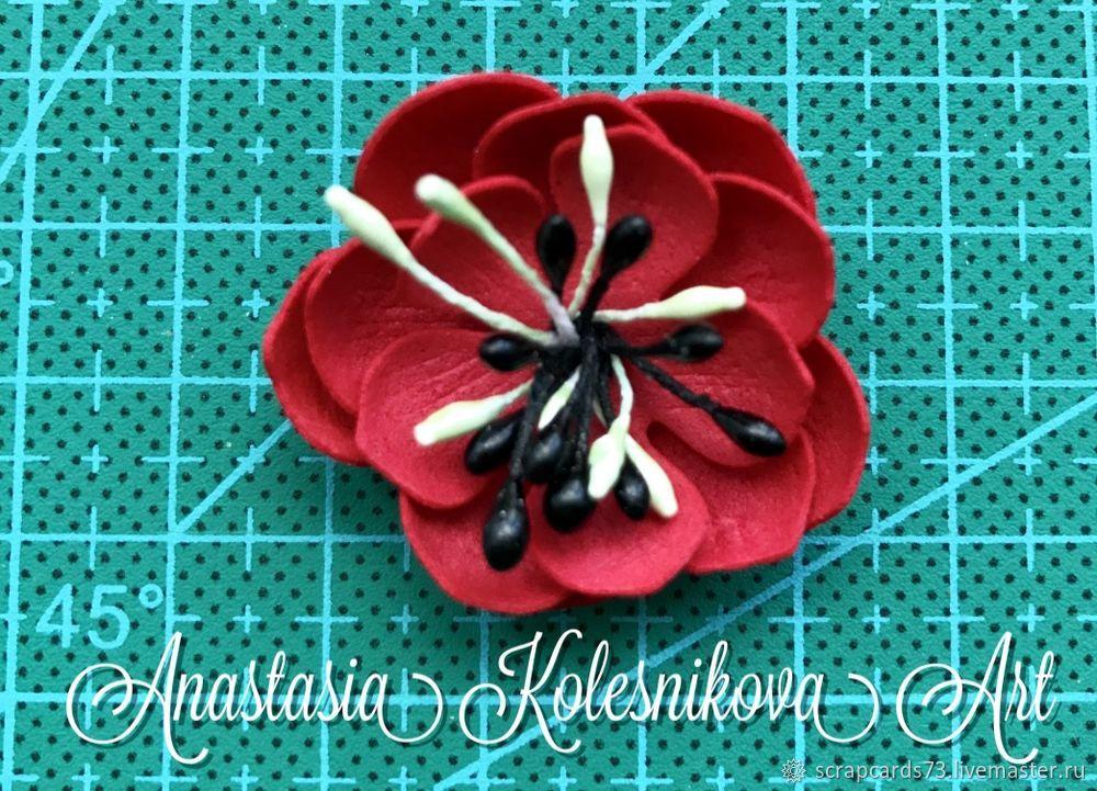 Цветы для открыток из фоамирана мастер класс
