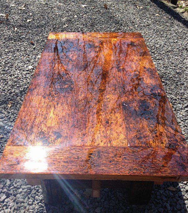 Полировка стола из дерева