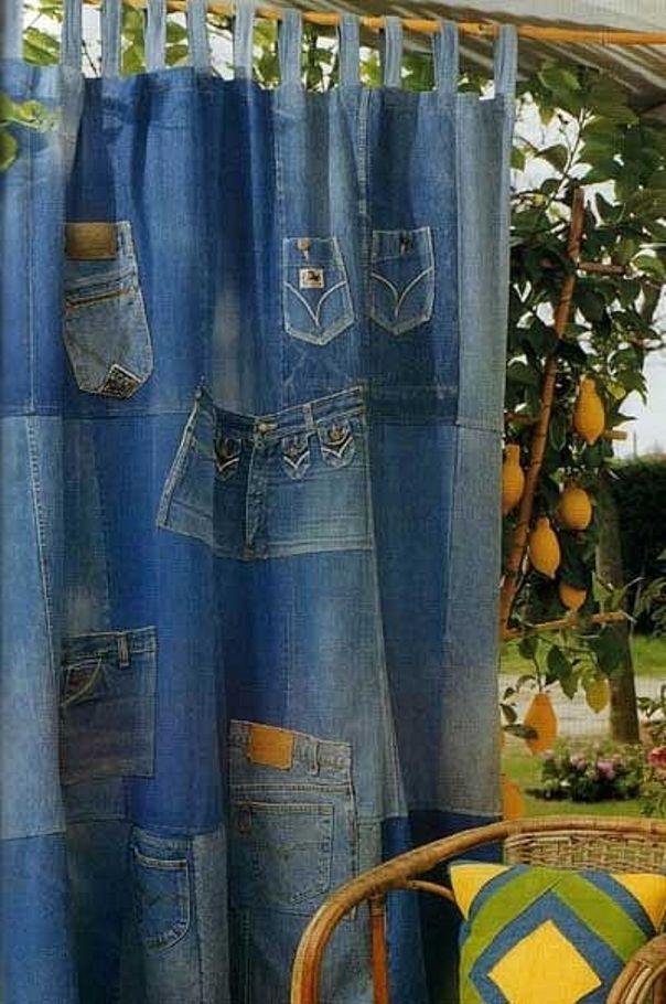 Ткань из джинсов своими руками