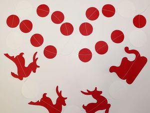 Как легко сделать новогоднюю гирлянду с оленями из бумаги. Ярмарка Мастеров - ручная работа, handmade.