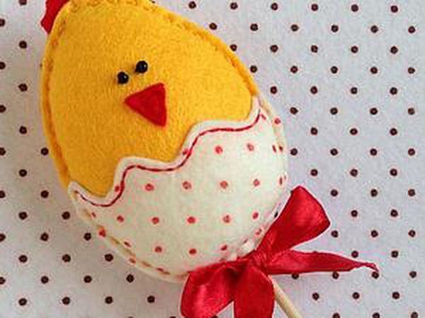 Easter Chicken of Felt in 5 Minutes   Livemaster - handmade