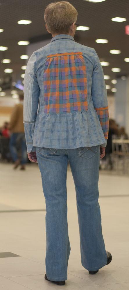 джинсовый стиль, ткань в клетку