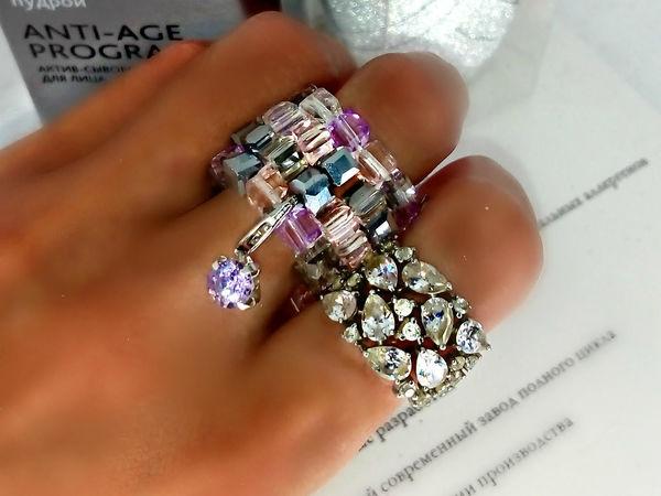 Out 546  кольцо с кулоном | Ярмарка Мастеров - ручная работа, handmade