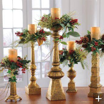 Dover Antique Gold Candlesticks