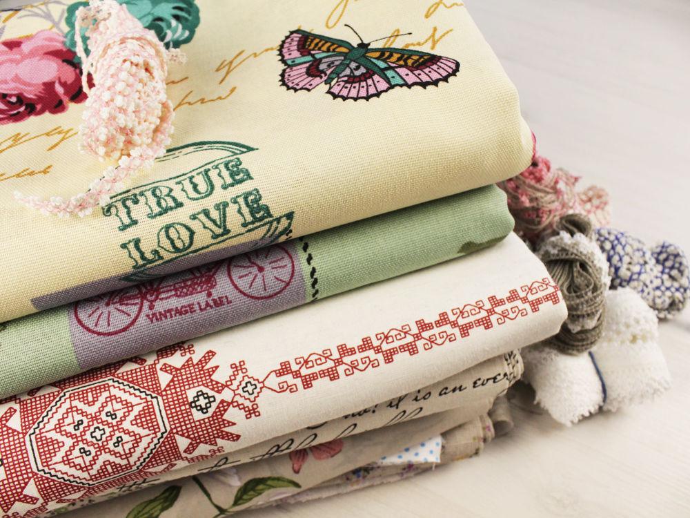 ткань для шитья, льняные ткани, хлопок