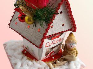 Новогодний домик- композиция из конфет | Ярмарка Мастеров - ручная работа, handmade