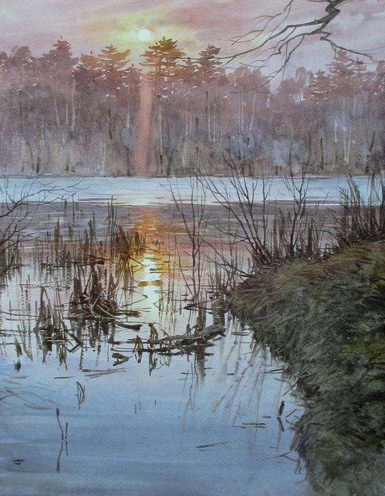Акварельные пейзажи художника Ильи Горгоца, фото № 2