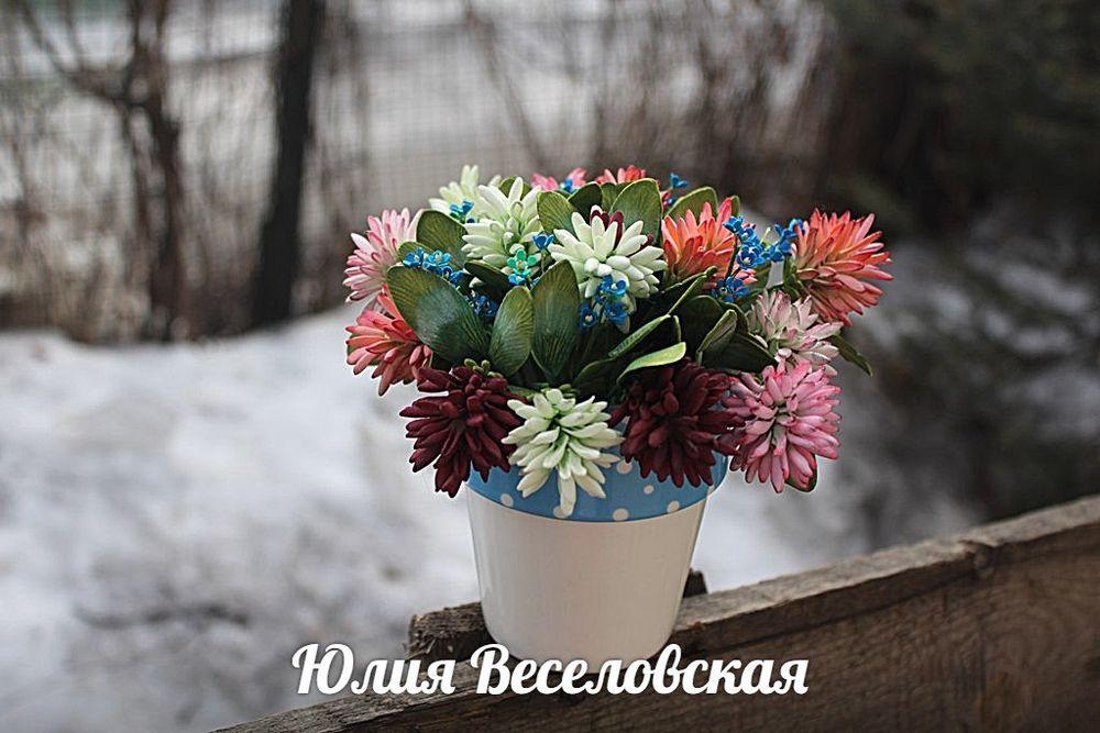 цветы ручной работы, крокусы ручной работы