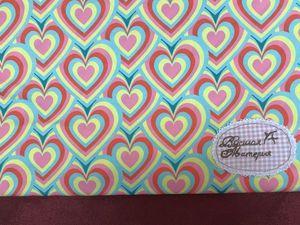 Ткань для купальников Сердечки. Лайкра. Ярмарка Мастеров - ручная работа, handmade.