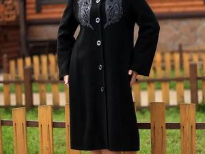 Новая модель пальто! Шикарная вышивка!. Ярмарка Мастеров - ручная работа, handmade.