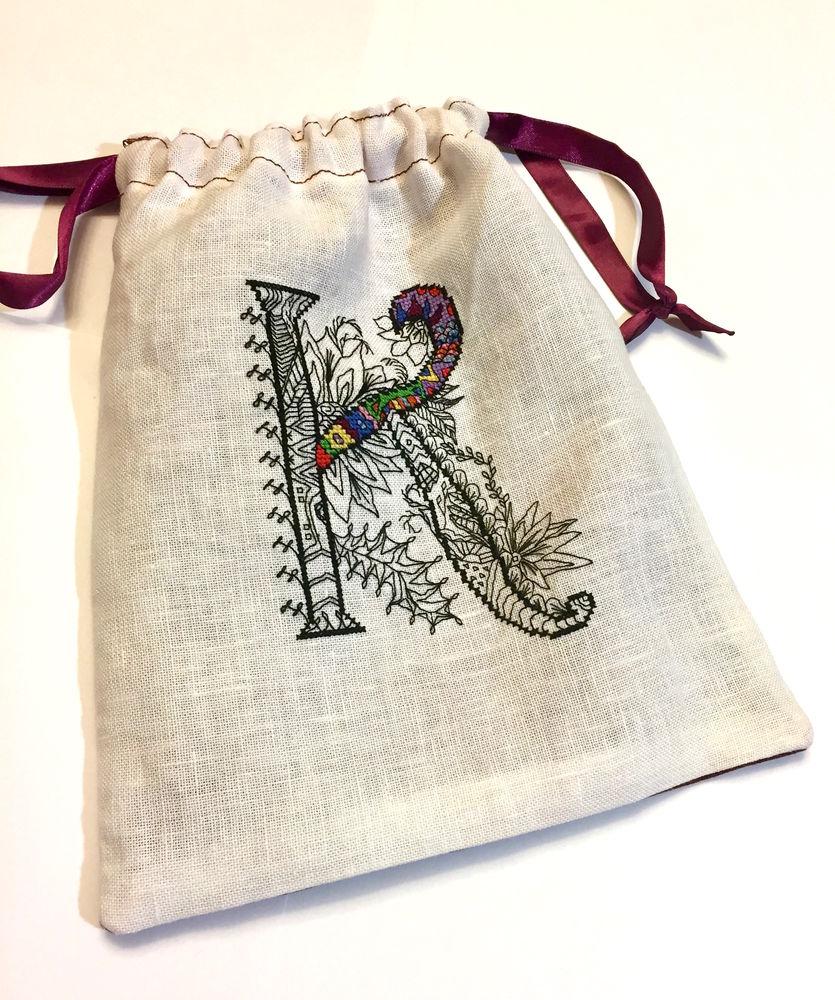 простовышей, схема для вышивки, вышивка крестом, мешок, подарок, алфавит, зентангл, игрушка, буквы