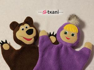 Мастерим артистов домашнего театра. Перчаточные куклы Маша и Миша. Ярмарка Мастеров - ручная работа, handmade.