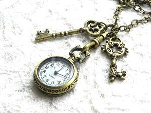 Видео.Часы на цепочке,Sweet Romance,США. Ярмарка Мастеров - ручная работа, handmade.