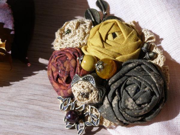 Делаем текстильные броши Бохо   Ярмарка Мастеров - ручная работа, handmade