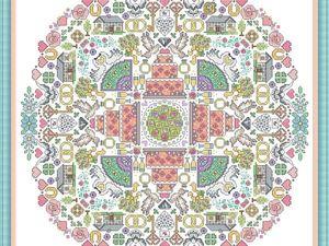 Авторские схемы для вышивки. Мандалы. Ярмарка Мастеров - ручная работа, handmade.