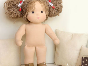 "Вальдорфская кукла ""Голышка"" - Ярмарка Мастеров - ручная работа, handmade"