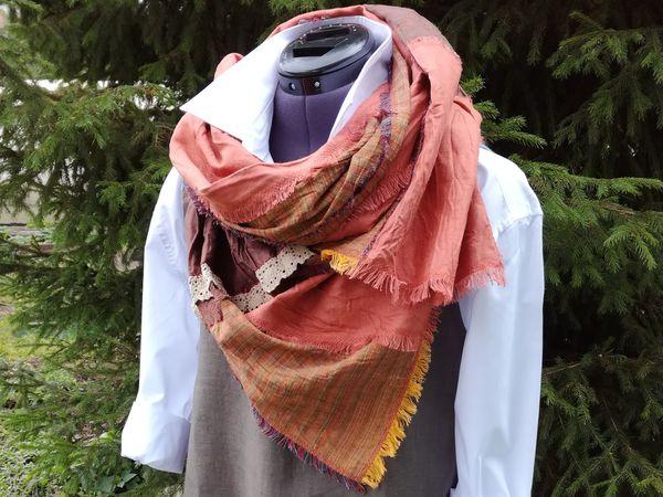 Шьем оригинальный льняной шарф в стиле бохо | Ярмарка Мастеров - ручная работа, handmade