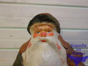 Реставрация Деда Мороза из папье маше и плюша. Дополнительные фото. Ярмарка Мастеров - ручная работа, handmade.