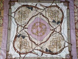 АУКЦИОН: Винтажный платок-каре в стиле Hermes, Италия, 1970-е гг.. Ярмарка Мастеров - ручная работа, handmade.