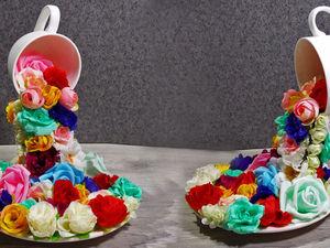 Мастерим парящую чашку с цветами: видео мастер-класс. Ярмарка Мастеров - ручная работа, handmade.