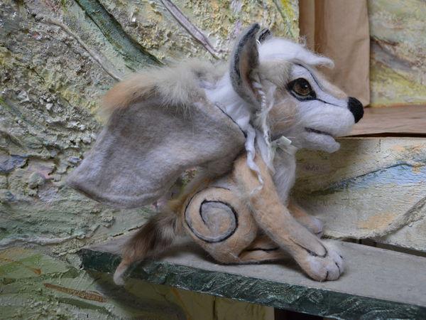 Приёмы декорирования валяной игрушки натуральным мехом | Ярмарка Мастеров - ручная работа, handmade