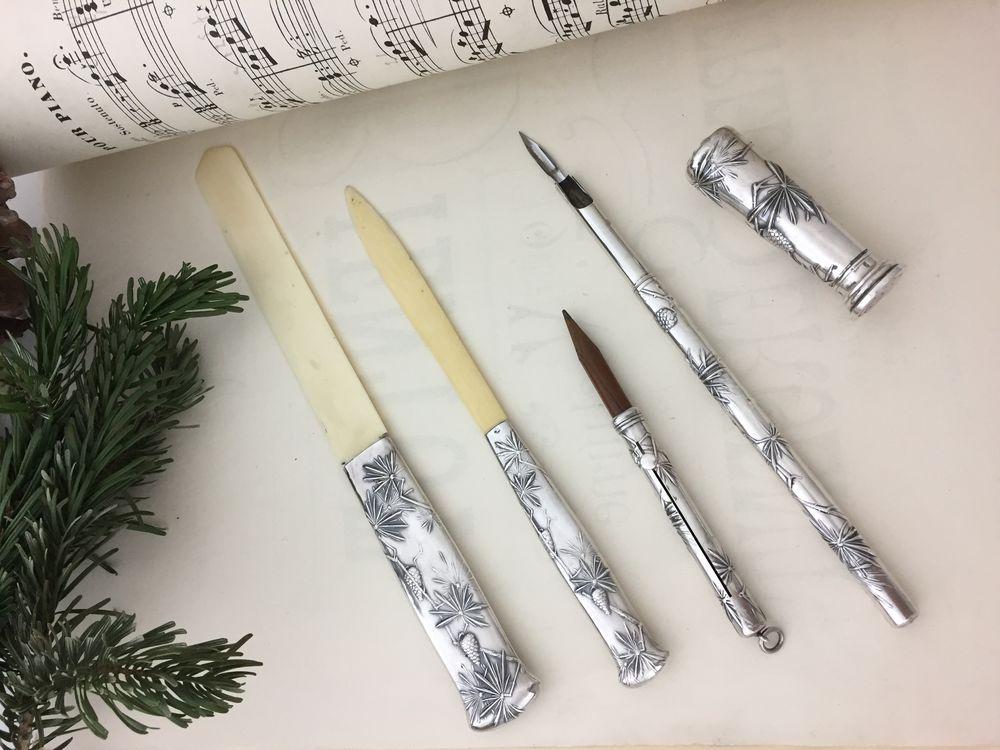 несессер, серебряный нож