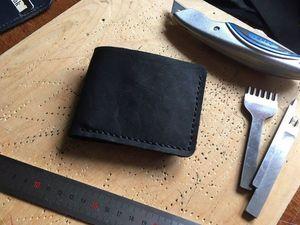 Элегантная простота: шьем кожаный бумажник. Ярмарка Мастеров - ручная работа, handmade.