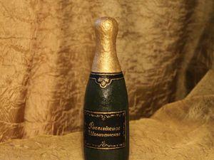 Шьем бутылочку Шампанского. Ярмарка Мастеров - ручная работа, handmade.