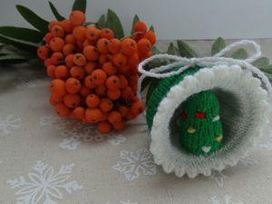 Вяжем новогоднюю игрушку «Полусфера» с елочкой. Ярмарка Мастеров - ручная работа, handmade.