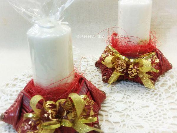 Фото отчет: Новогодние подсвечники | Ярмарка Мастеров - ручная работа, handmade