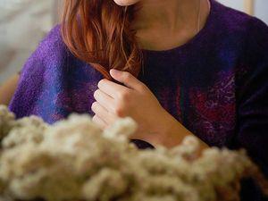 """Валяный свитшот """"Восхитительный фиолетовый"""". Ярмарка Мастеров - ручная работа, handmade."""
